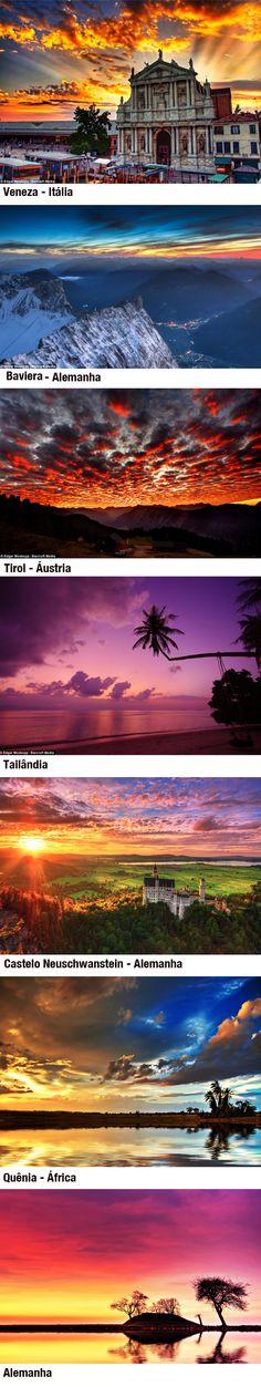 Fotógrafo alemão passa 3 anos documentando pores-do-sol ao redor do mundo por: Edgar Moskopp. // German photographer spends three years documenting sunsets around the world by: Edgar Moskopp.