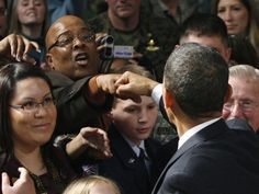 President Barack Obama at Elmendorf Air Force Base in Anchorage - pics - Democratic Underground Fist Bump, Air Force Bases, I Work Hard, Barack Obama, Presidents, Couple Photos, Couple Shots, Couple Photography, Couple Pictures