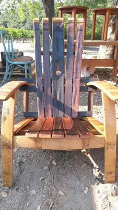 Wine Barrel Adirondack   Handmade By Horner Barrel Furniture In The Napa  Valley.