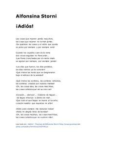 alfonsina storni poemas -