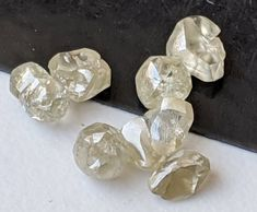 Raw Diamonds For Jewelry Use Natural Uncut Loose Diamond 1 Carat Tiny 3mm To 4mm Raw Diamond Rough Brown Diamond Oval Tumbles Beads