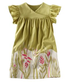 Tea Collection Floating Rice Field Dress Apple