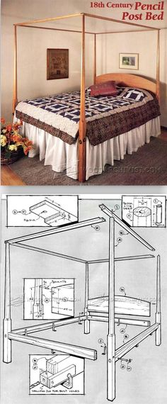 Pencil Post Bed Plans - Furniture Plans and Projects | WoodArchivist.com
