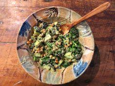 Chickpea and broccoli salad