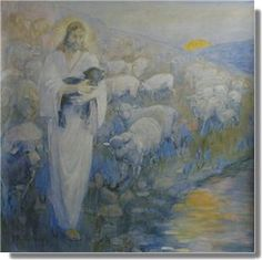 Rescue Of The Lost Lambs  Minerva Teichert