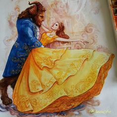 Beauty and the Beast- Belle and the Beast dancing