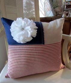 flag inspired throw pillow