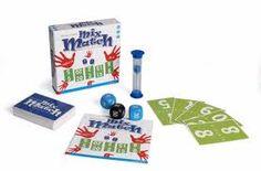 mix match spel. maak met je kaarten d.m.v. +, -, x en : het getal dat gegooid is met de dobbelstenen.