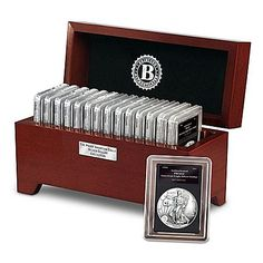 Complete Proof American Eagle Silver Dollar Coin Collection With Display Box