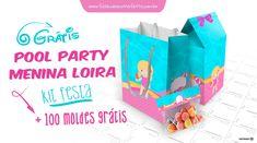 Pool Party Mini Kit birthday printables