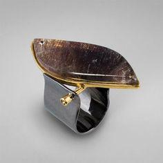 Sapphire, quartz and fianite--German Kabirski