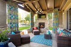 The warmer weather is coming! (Seriously, we know it is.) Have you thought about your outdoor area this year? Outdoor Decor, Roller Shades, Outdoor Space, Living Spaces, Drapery Panels, Budget Blinds, Outdoor Living Space, Blinds, Outdoor Design