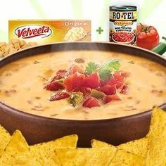 Famous Queso Dip is so good it'll blow 'em away. It's warm. It's creamy. It's super easy. Get the recipe and fun queso hacks today.