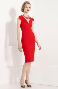 Raised Seam Wool Dress - Lyst