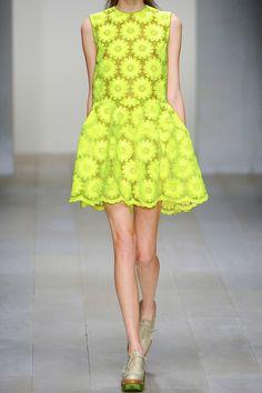 Simone Rocha|Neon embroidered organza dress |NET-A-PORTER.COM