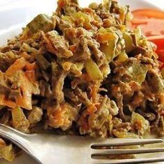 Салат из печени Королевский