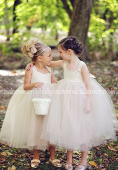 Champagne Flower Girl Tutu Dress by OliviaKateCouture on Etsy