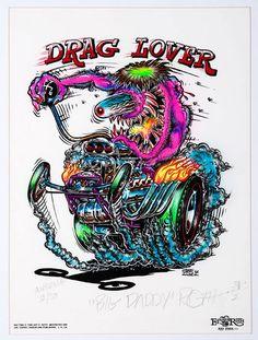 ☮ Art by Ed Roth ~ Rat Fink! ~ ☮レ o √乇 ❥ L❃ve ☮~ღ~*~*✿⊱☮ --- Drag Lover