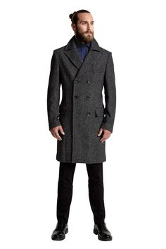 Aliad Overcoat 3447.18 Double Breasted Suit, 18th, Suit Jacket, Suits, Jackets, Men, Collection, Fashion, Down Jackets
