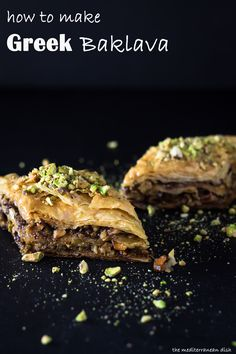 Best Greek baklava recipe with step-by-step photo instructions from The Mediterranean Dish