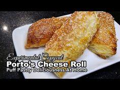 Portos Copycat Cheese Rolls - YouTube Portos Cheese Rolls Recipe, Cheese Roll Recipe, Bakery Recipes, Dessert Recipes, Bread Recipes, What Is Puff Pastry, Puff Pastry Ingredients, Puff Pastry Desserts, Baked Rolls