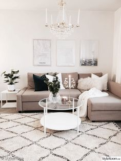 Which Scandinavian decoration is made for you? (PLANET DECO a homes world) - Decoration For Home Beige Living Rooms, Home Living Room, Living Room Designs, Apartment Living Rooms, Living Room Decor Tv, Picture Wall Living Room, Living Area, Beige Couch, Beige Room