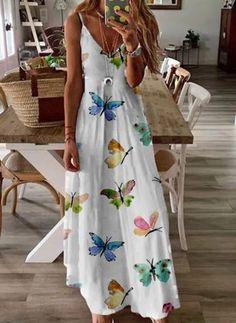 Summer Dresses Online, Casual Summer Dresses, Summer Dresses For Women, Dress Casual, Long Boho Dresses, Spring Dresses, Dress Online, Robes Pin Up, Sexy Long Dress