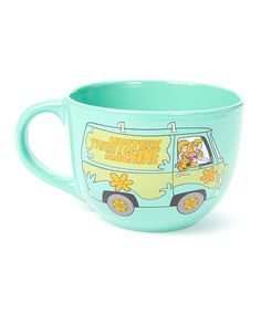 Love this Scooby-Doo Mystery Machine Soup Mug on I would totally use this as a coffee mug! Soup Mugs, Tea Mugs, I Love Coffee, My Coffee, Cool Coffee Cups, Sweet Coffee, Geeks, Scooby Doo Mystery, Cute Cups