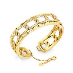 Blink-Yellow-Gold-and-Diamond-Executive-Slip-On-Cuff-Bracelet-8,250-16,500