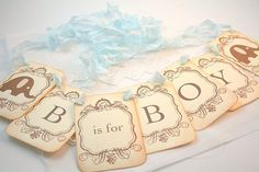 B is for Boy Banner Elephant Garland Baby Shower Decoration Photo Prop on Etsy, $22.75