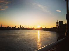 Sunset#evening#sunset#sun#beautiful#evening#Canary#Wharf#London#city by bernadetau