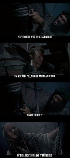 One of my favorite movie lines EVER, by Captain Jack Sparrow
