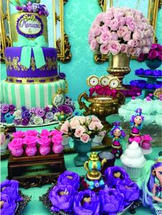 decoração festa ever after high