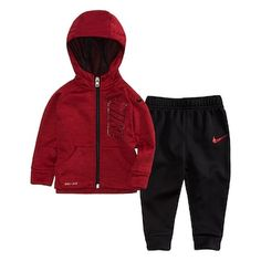 Baby Boy Nike Therma-FIT Space-Dyed Hoodie & Jogger Pants Set
