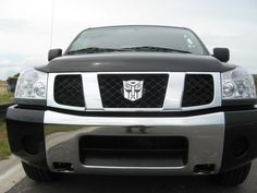 Transformers Car Emblem - Take My Paycheck - Shut up and take my money! Latest Gadgets, Cool Gadgets, Navara D40, Nissan 4x4, Car Hood Ornaments, Geek Toys, Transformers Autobots, Nissan Pathfinder, Take My Money