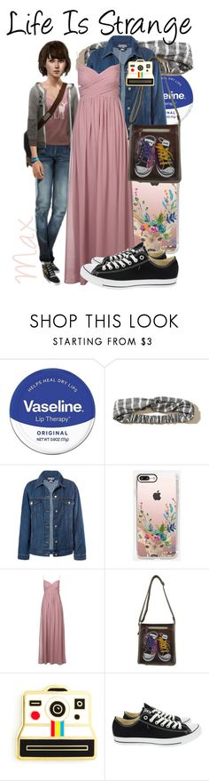 """""""Max Caulfield from Life Is Strange (Dressed Up?)"""" by imanirine ❤ liked on Polyvore featuring Vaseline, Hollister Co., Sans Souci, Casetify, AmeriLeather, Polaroid and Converse"""