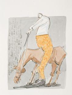 Mashile-Sancho on Rosinante Watercolour-LR Watercolour, Horses, Artwork, Artist, Prints, Watercolor, Work Of Art, Watercolor Painting, Horse