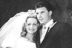 April 20, 1963: Rick and Kris Nelson exit St. Martin of Tours Church in Brentwood, California, on the day of their marriage