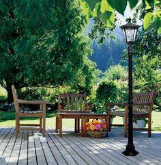 Outdoor Lamp Post Light Pole Solar LED Fixture Garden Yard Driveway Lamppost New #Paradise