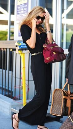 Black Maxi with a red Prada bag