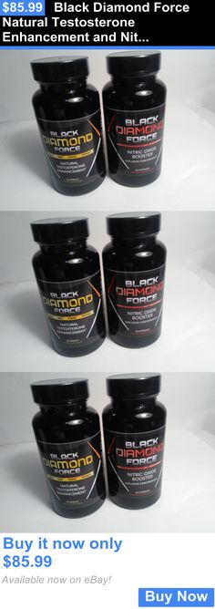 Sports Vitamins and Minerals: Black Diamond Force Natural Testosterone Enhancement And Nitric Oxide Booster BUY IT NOW ONLY: $85.99