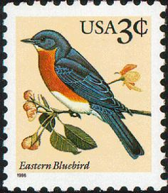 Stamp - Eastern bluebird  1996-04-03
