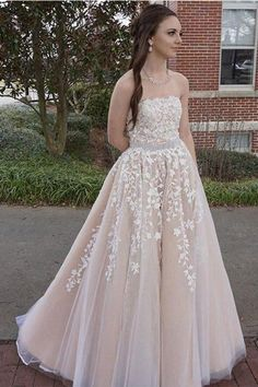 2018 Charming Strapless V Neck Prom Dress 458a11999446