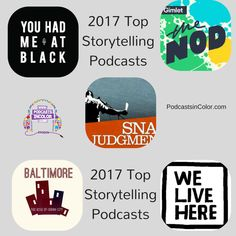 2017 Top Storytelling Podcasts #Top2017Podcasts  http://podcastsincolor.com/podsincolornews/2017storytelling