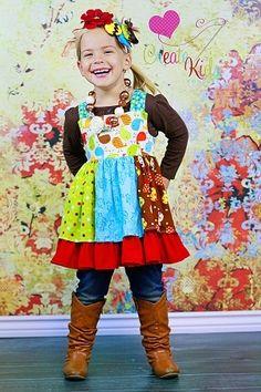 Mia's Girls Boutique Reverse Knot Twirly Dress PDF Pattern