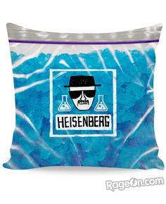 Check out this sick all-over-print Heisenberg's Blue Meth Couch Pillow! This vibrant, fully-sublimated pillow features the classic blue meth from Breaking Bad!