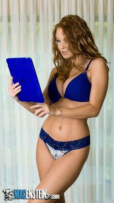 Macenstein's Mac Chick of the Month September Leanna Decker Exotic Women, Female Models, Women Models, Swimsuits, Bikinis, Sensual, Redheads, Playboy, Sexy Women