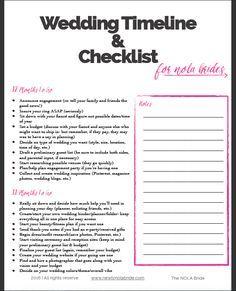 Wedding Timeline Template Wedding Checklist Printable Wedding To - Wedding dj timeline template