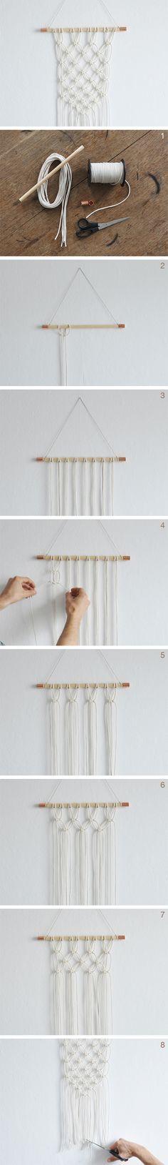 Réalisez une jolie décoration murale en #macrame grâce à ce #tutoriel !