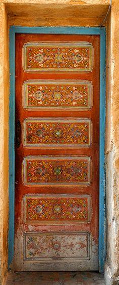 Rabat, Morocco--I am seriously obsessed with Morocco. Need to book a trip NOW! Moroccan Doors, Antique Doors, Vintage Doors, When One Door Closes, Door Entryway, Knobs And Knockers, Cool Doors, Windows And Doors, Front Doors